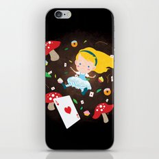 Alice Falling Down the Rabbit Hole iPhone & iPod Skin