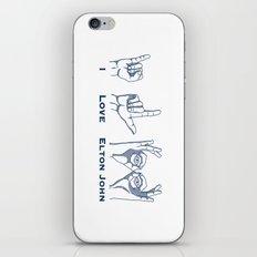 I Love Elton V2 iPhone & iPod Skin
