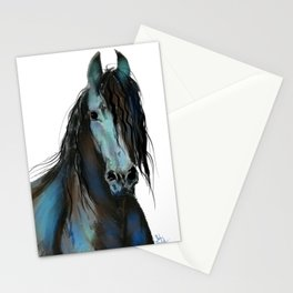 BLaCK FRieSiaN HoRSe PRiNT ' THe ONe ' BY SHiRLeY MacARTHuR Stationery Cards