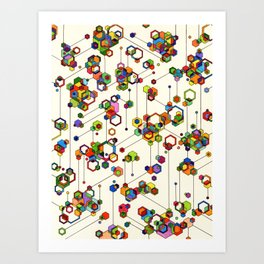 Connected Clusters Art Print