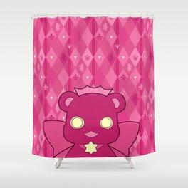 Monochromatic Kuma Ginko Shower Curtain