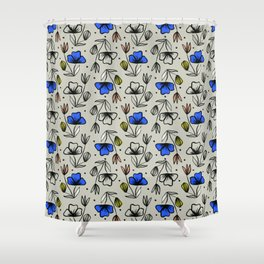 Stained Glass Garden Shower Curtain