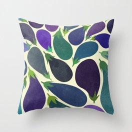 Eggplant's party Throw Pillow
