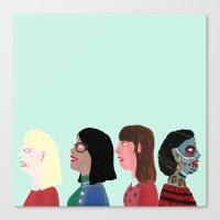 women Canvas Prints featuring women by Alejandra Hernandez