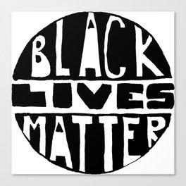 Black Lives Matter Filled Canvas Print