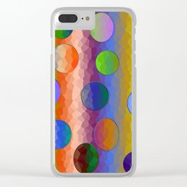 Rainbow Crystals Clear iPhone Case