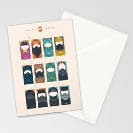 THE VEIL AND THE BEARD - All in One - With subheads Stationery Cards