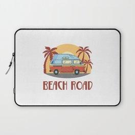Beach Road  TShirt Vintage Caravan Shirt Travel Road Gift Idea Laptop Sleeve