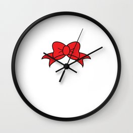 Beauty Ribbon Feminist Confidence Gender Equality Women Empowerment Feminism Gift Wall Clock