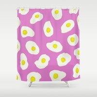 eggs Shower Curtains featuring Eggs by AshlynDrake