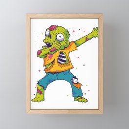 Dab Dabbing Zombie USA Halloween Trend Framed Mini Art Print
