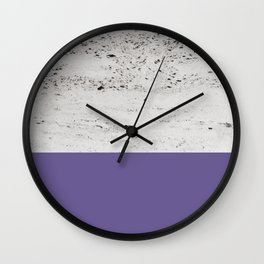 Ultra Violet on Concrete #3 #decor #art #society6 Wall Clock