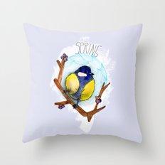 Spring birdy / Nr. 3 Throw Pillow