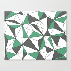 Geo - green, gray and white. Canvas Print
