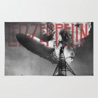 led zeppelin Area & Throw Rugs featuring Zeppelin by Blaž Rojs