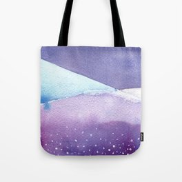 Snowy Landscape Abstract Tote Bag