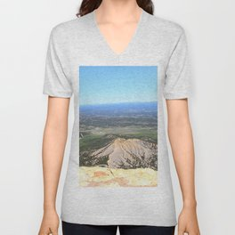 View from the top of Mesa Verde Unisex V-Neck