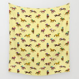 To The Horse Races (Yellow) Wall Tapestry