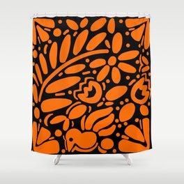 Beautiful Orange Otomi Shower Curtain