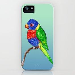 Cute rainbow lorikeet iPhone Case