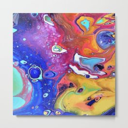Wild and Crazy Art Flow Metal Print
