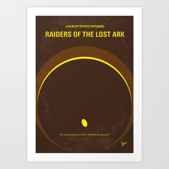 No068 My Raiders Lost A minimal movie poster Art Print