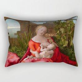 """Albrecht Dürer """"The Virgin and Child (The Madonna with the Iris)"""" Rectangular Pillow"""