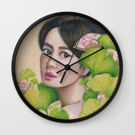 Gingko Girl Wall Clock