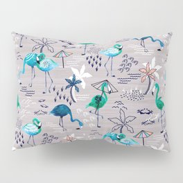 Frolicking Flamingos Pillow Sham