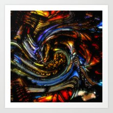 SJ1000sq Colorful Abstract Art Print