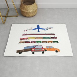 Planes, Trains and Automobiles Rug