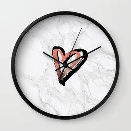 Grateful Heart (Rose Gold) Wall Clock