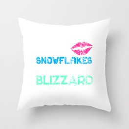 Snow If Kisses Were Snowflakes Id Send You A Blizzard Throw Pillow