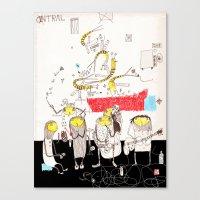 jazz Canvas Prints featuring Jazz by Nayoun Kim