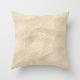 Light Brown Sand texture Throw Pillow
