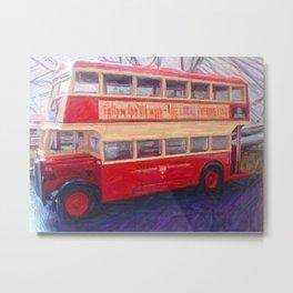 Impressionist Bus Metal Print