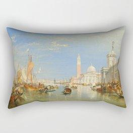 "J.M.W. Turner ""Venice - The Dogana and San Giorgio Maggiore"" Rectangular Pillow"