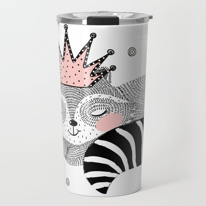 Lovely raccoon. Travel Mug