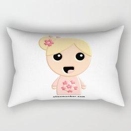 Ayumi Kokeshi Doll Rectangular Pillow