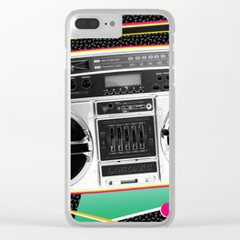 80s Audio Clear iPhone Case