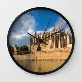 Cathedral of Palma de Mallorca Golden hour Timelapse Wall Clock