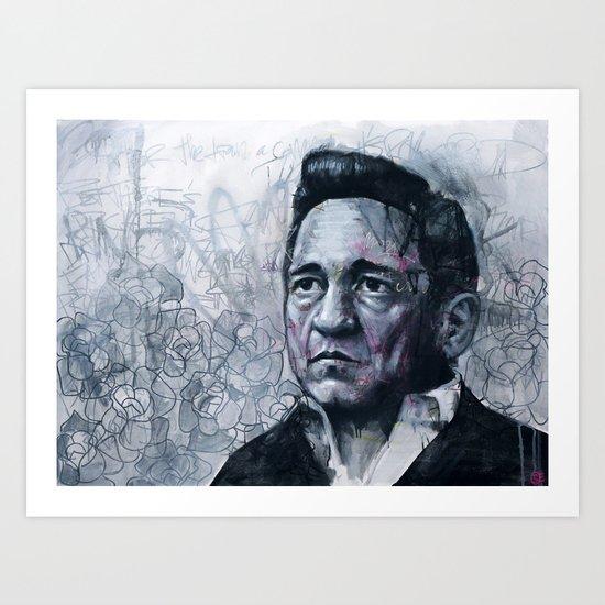 Man In Black - Johnny Cash Art Print