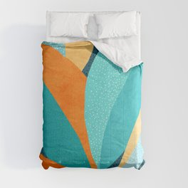 Abstract Tropical Foliage Comforters