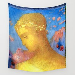 "Odilon Redon ""Beatrice"", 1885 Wall Tapestry"