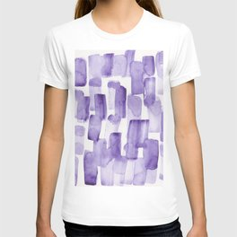 Purple Watercolour Patterns | 190129 Abstract Art Watercolour T-shirt