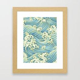 Wave Pattern Framed Art Print
