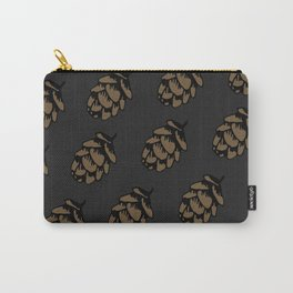 Black Pinecone Pattern Carry-All Pouch
