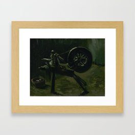 Spinning Wheel Framed Art Print