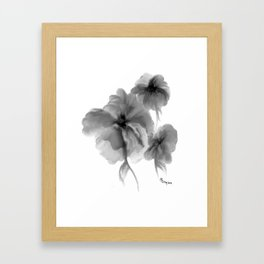 Black Flowers Framed Art Print