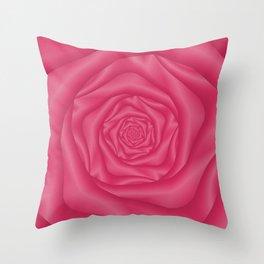 Spiral Rose in Pink Throw Pillow